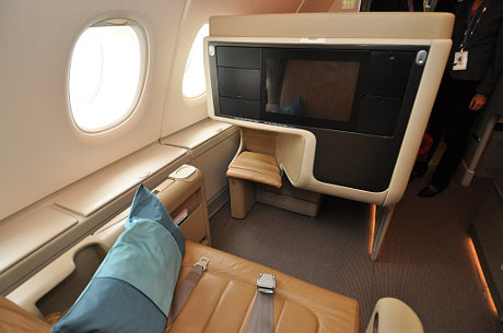 Business-Class im A380 der Singapore Airlines
