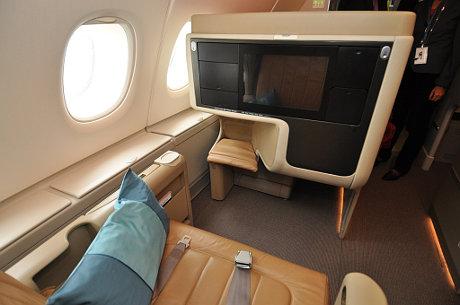 Business-Class im A380 der Singapore Airlines