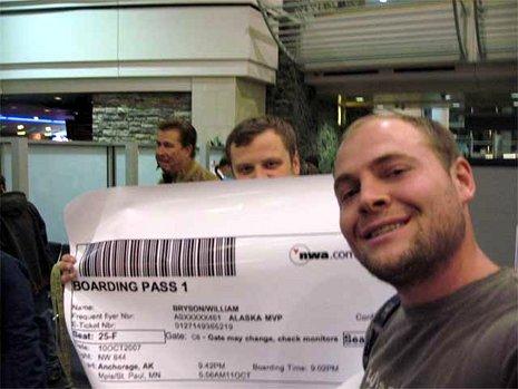 Der Riesen-Boarding-Pass