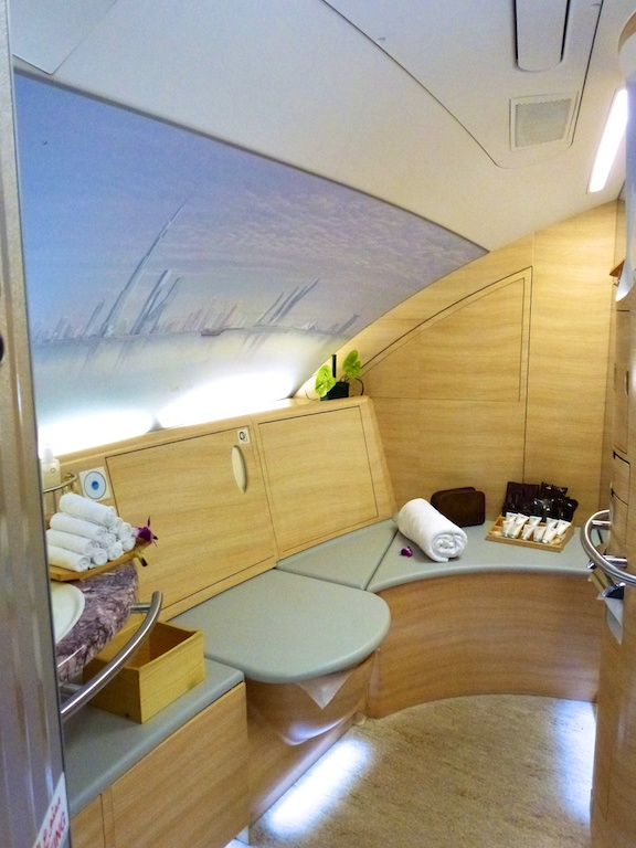 Spa-Kabinen für First-Class-Passagiere im Emirates A380
