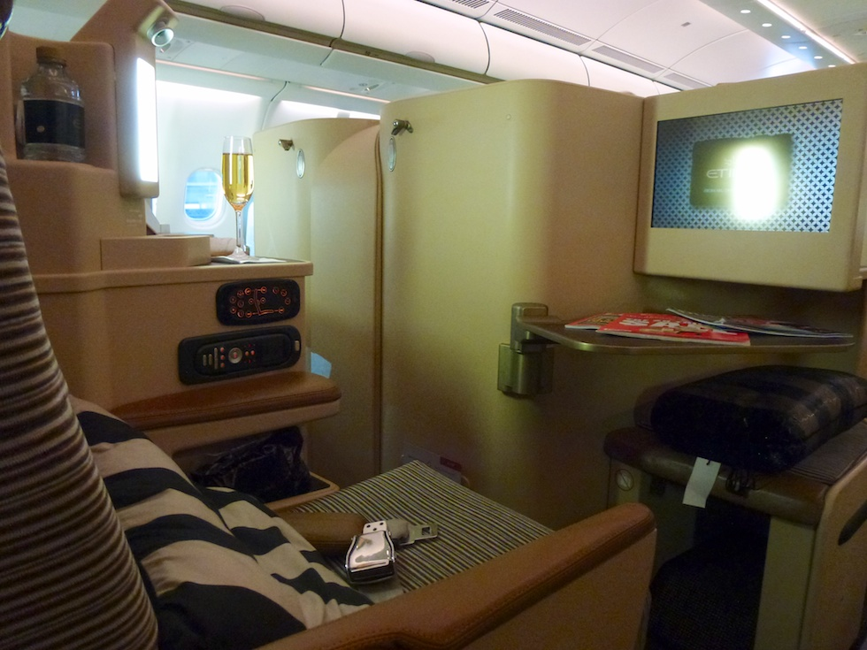 Mehr Platz in der Business-Class des Etihad A330-300