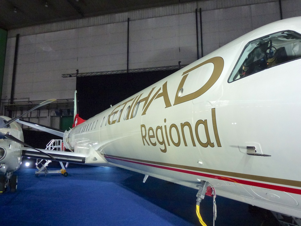 Etihad Regional Livery am Launch Event in Zürich