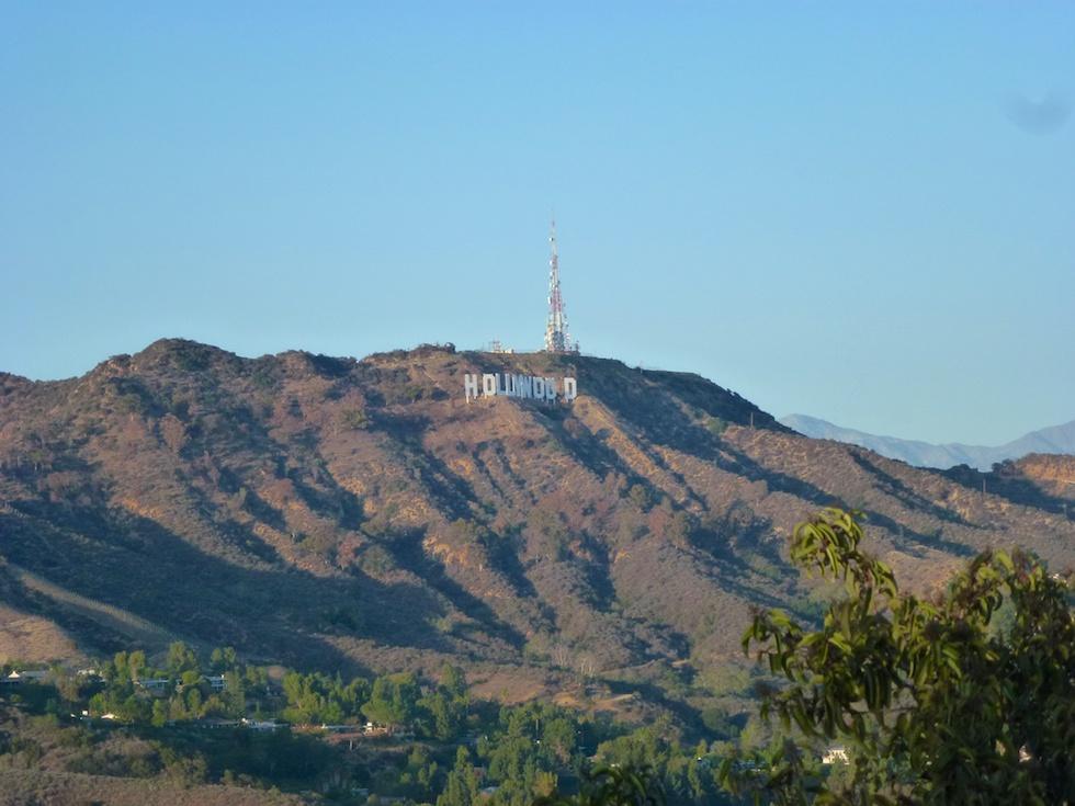 Hollywood Sign vom Mulholland Drive aus gesehen