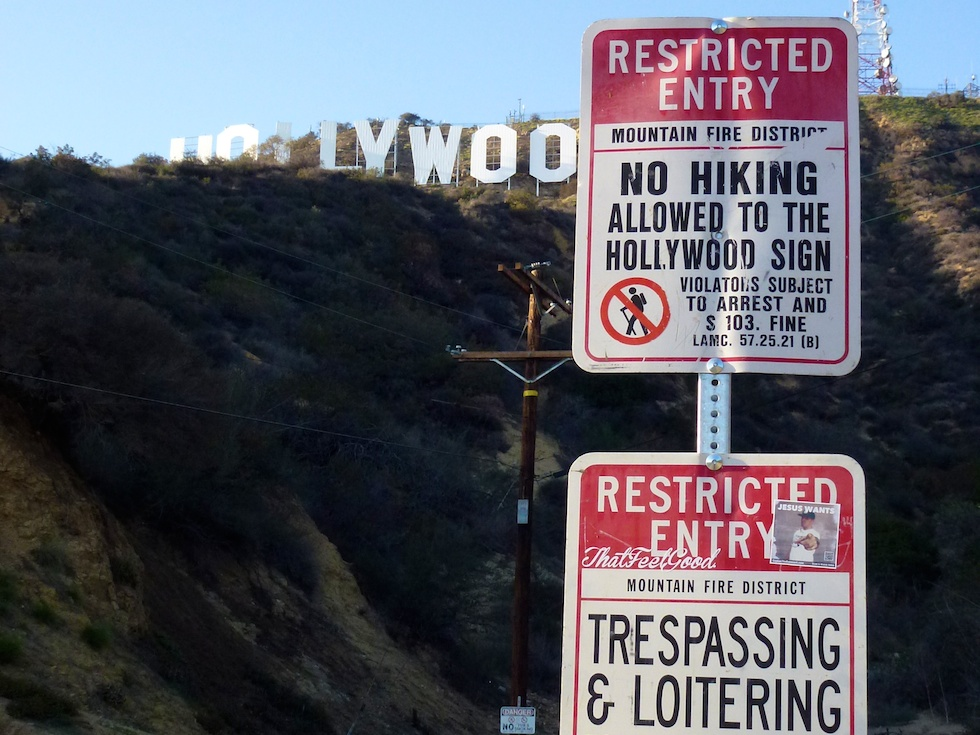 Wo gehts hier zum Hollywood Sign?