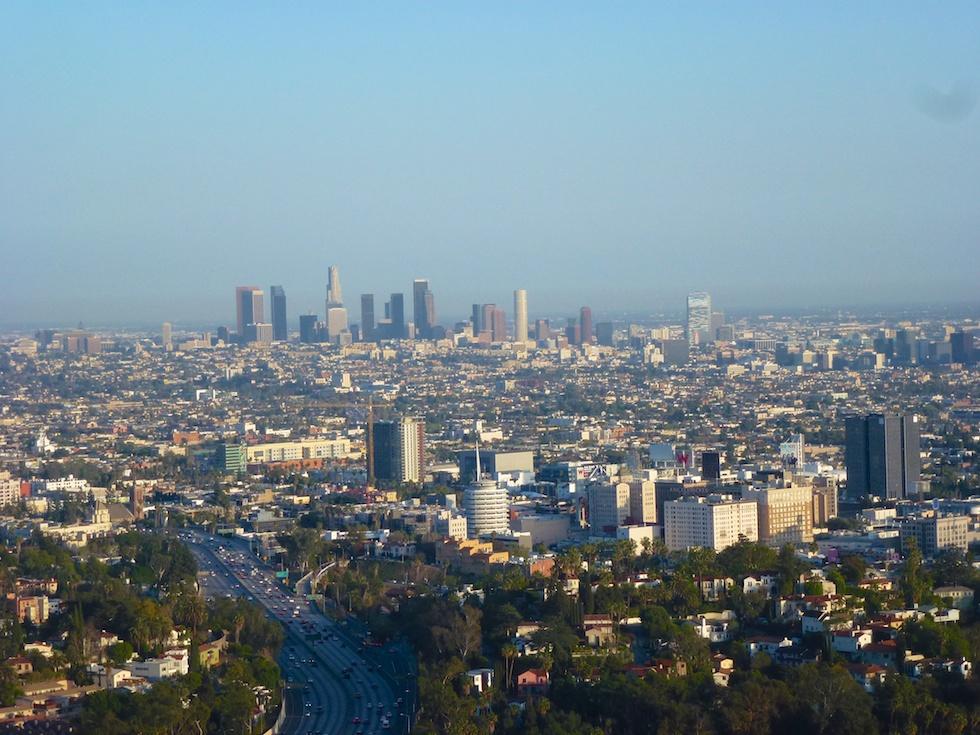 Downtown Los Angeles vom Mulholland Drive aus gesehen