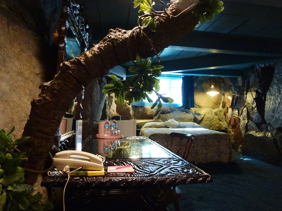 Der Jungle Rock-Room im Madonna Inn in San Luis Obispo
