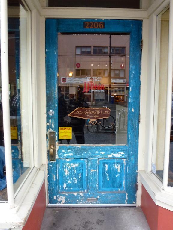 Vancouver Commercial Drive Shop Door