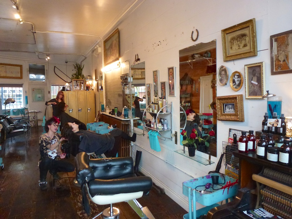 Vintage-Friseurladen an der Main Street