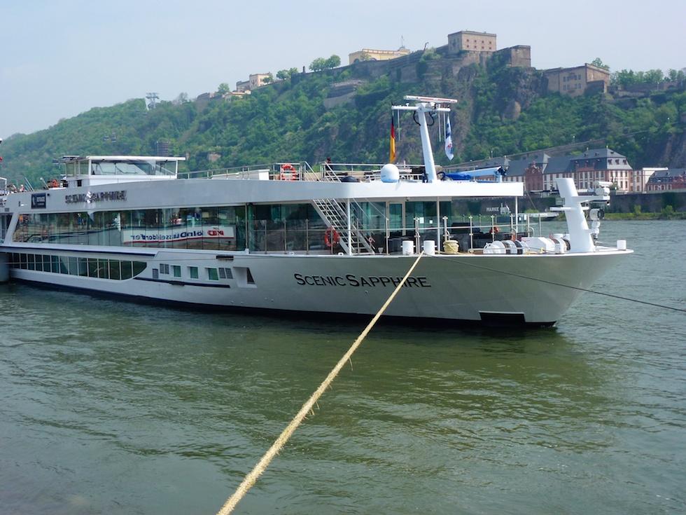 Unser Schiff, die Scenic Sapphire, ist das grösste Flussschiff auf dem Rhein.