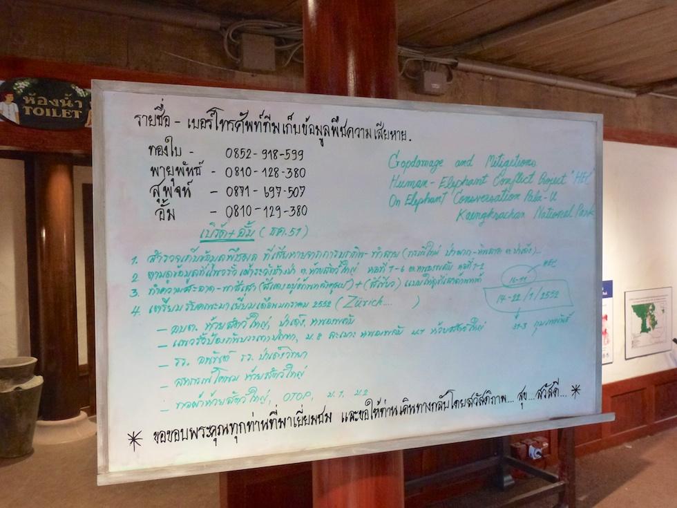 Thai müsste man können: Infotafel in der Elefantenanlage