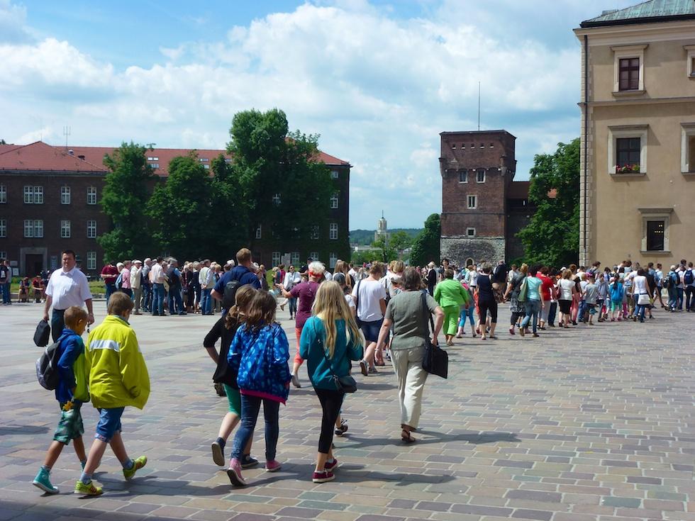 Touristen, wohin das Auge blickt