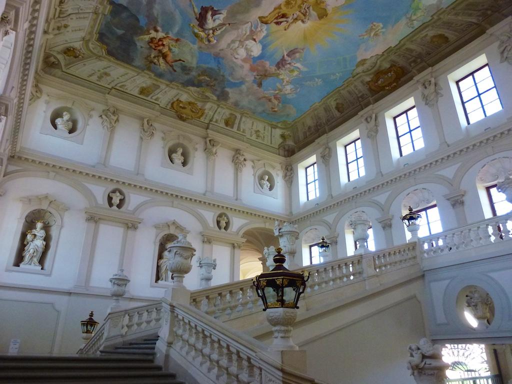 Benediktinerstift Göttweig: Kaiserstiege mit Deckenfresco