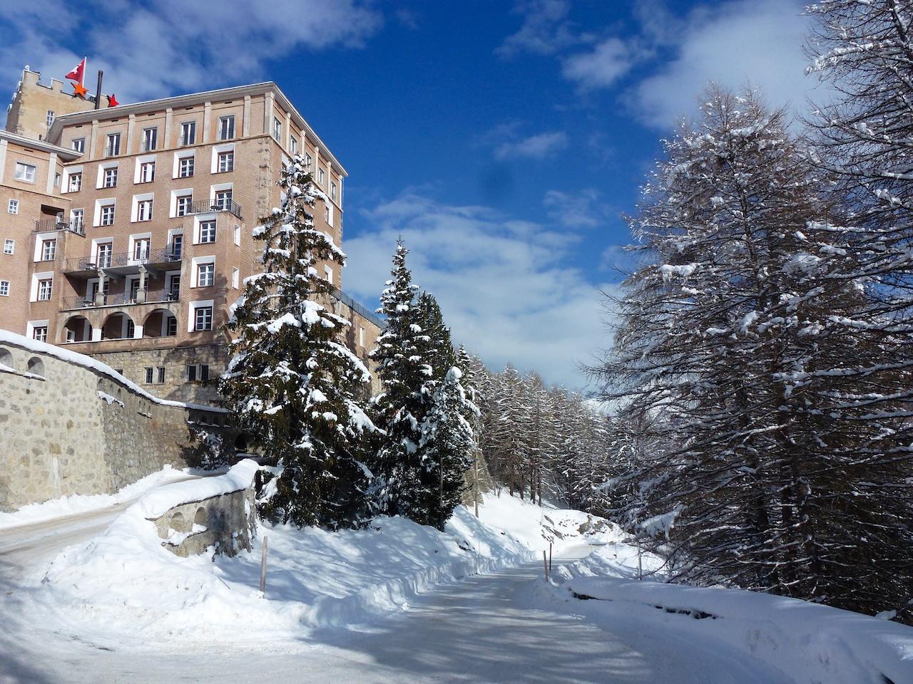 Nur noch eine Spitzkehre und das Hotel Castell ist erreicht...