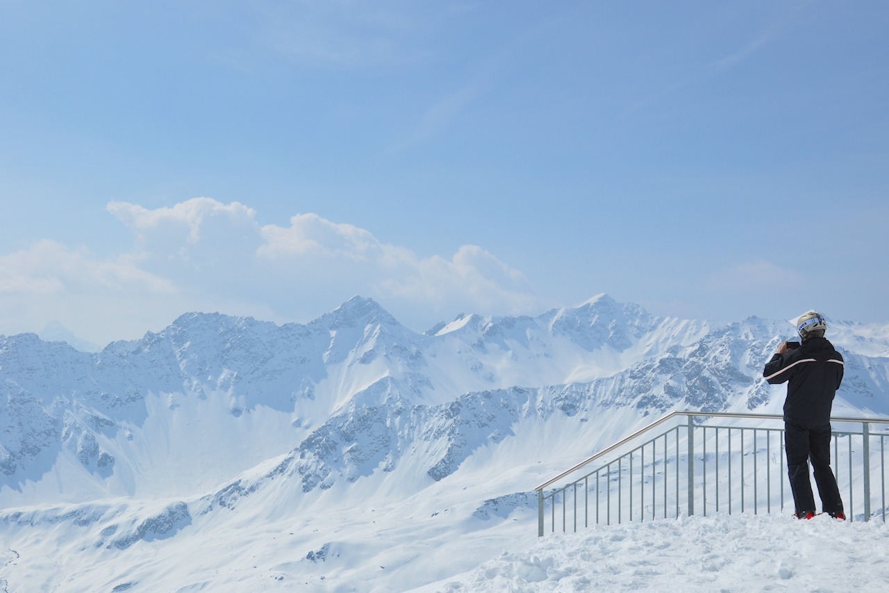 Grandiose Aussicht vom Aroser Weisshorn