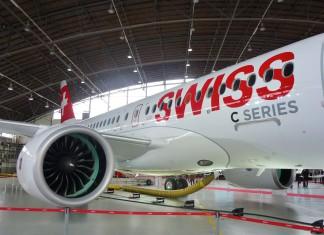 Bombardier CS100 in Swiss Livery