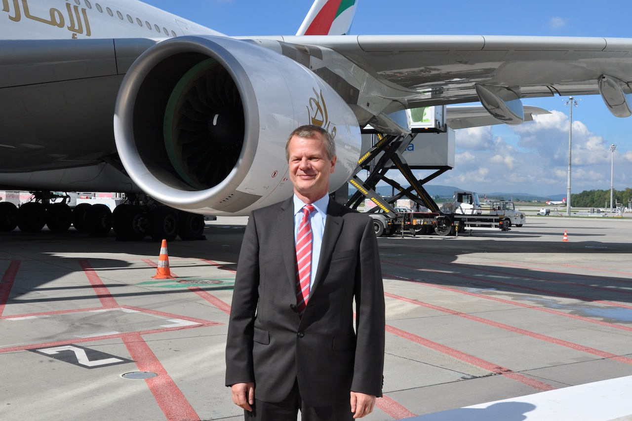 Emirates Country Manager Schweiz Jürg Müller hat gut lachen.