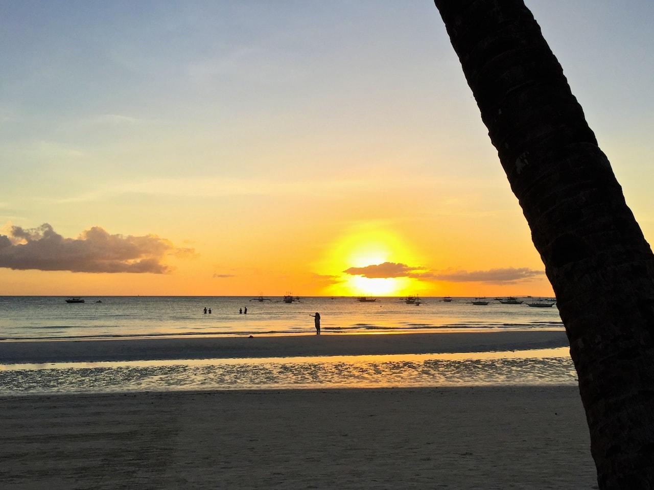 Weggucken geht nicht: Sonnuntergang auf Boracay