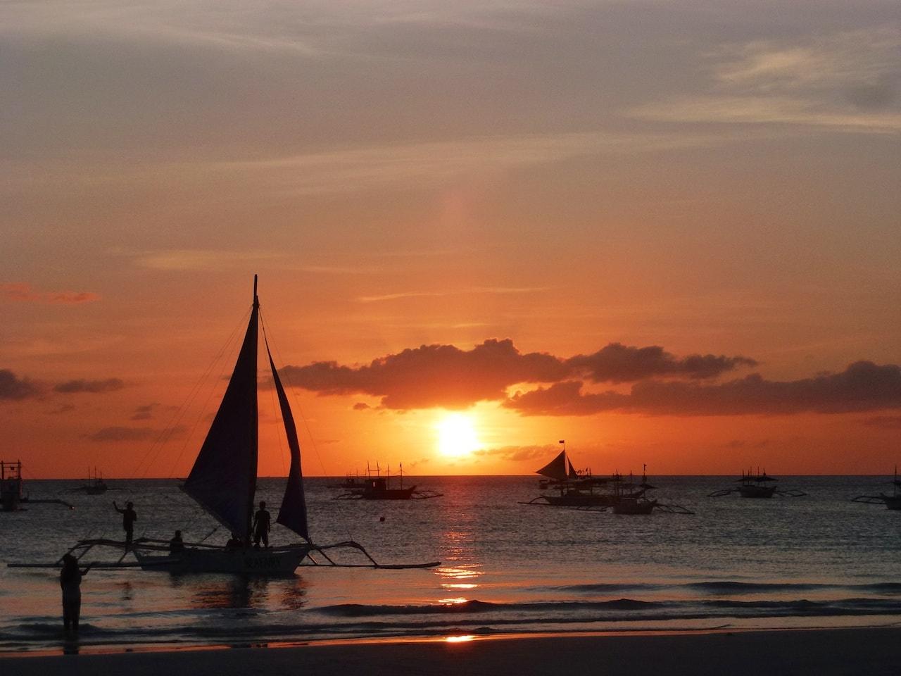 Weltbekannt: Die Sonnenuntergänge auf Boracay