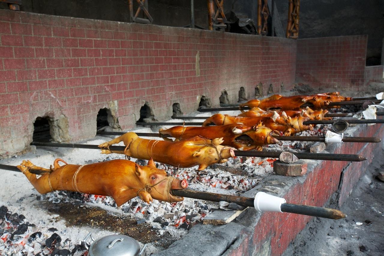 Schmeckt frisch vom Grill natürlich am Besten: Lechon baboy