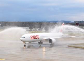Die neue SWISS 777-300ER am Flughafen Zürich