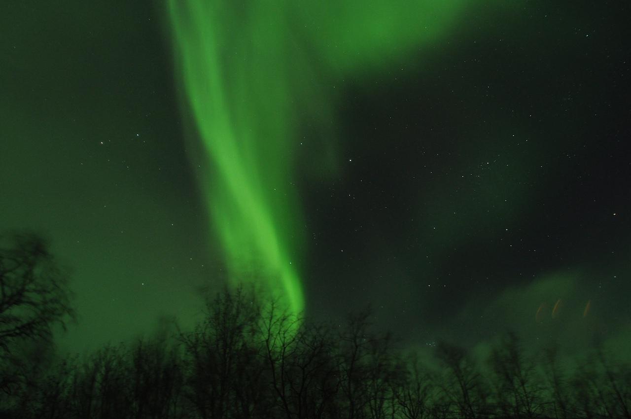 Polarlichter in Abisko, Schweden.