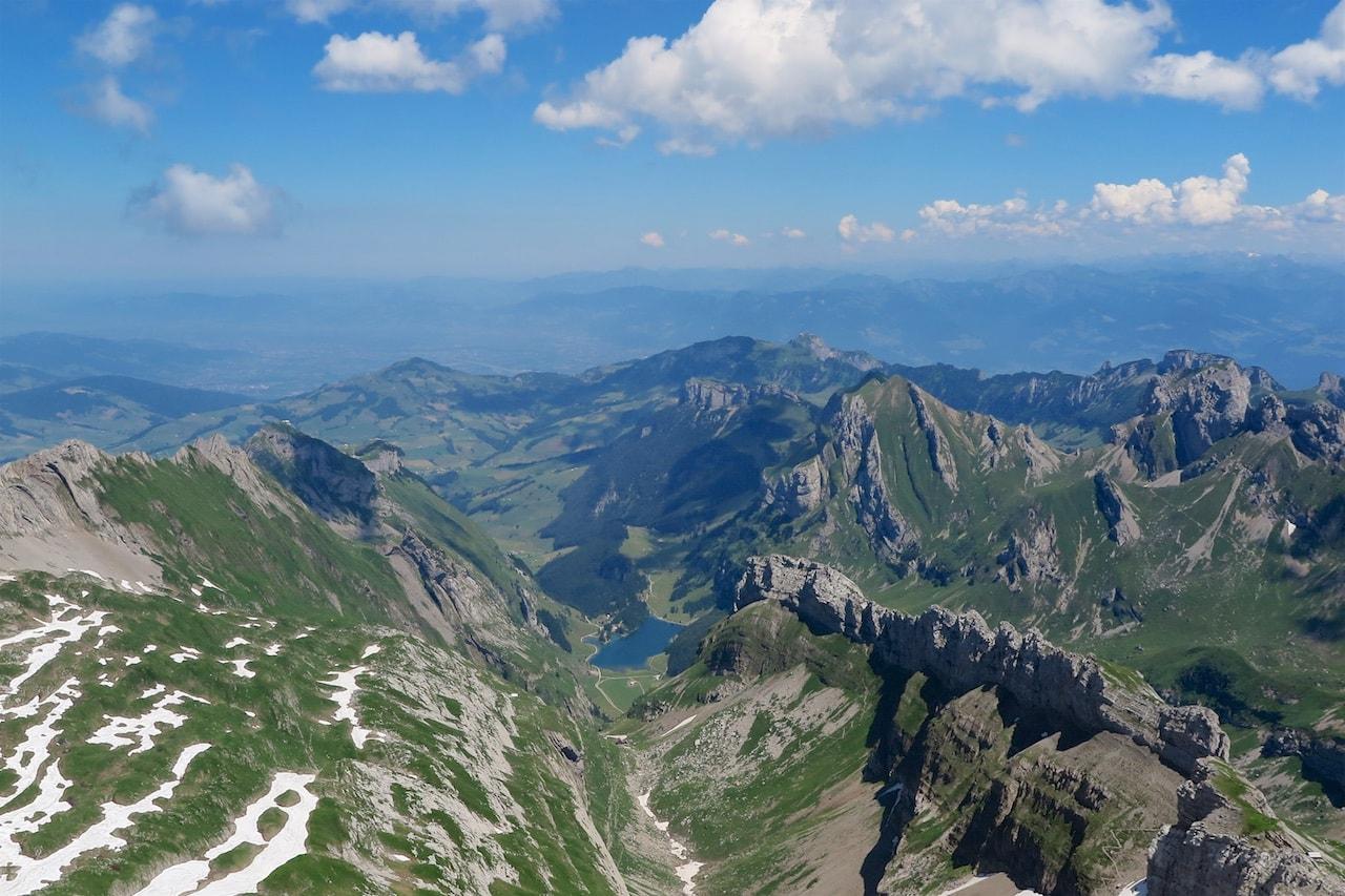 Tolle Bergwelt: Aussicht vom Säntis