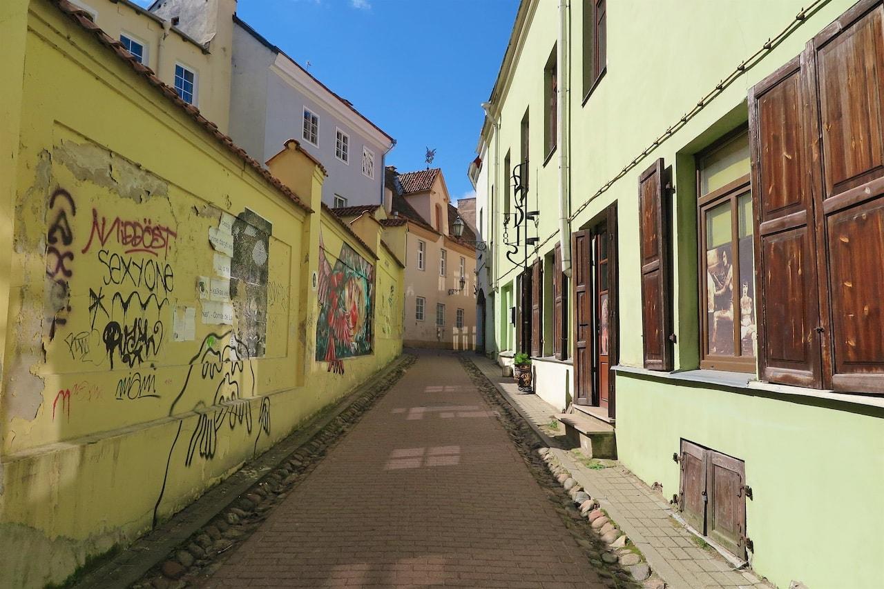 Gasse in Vilnius' Altstadt