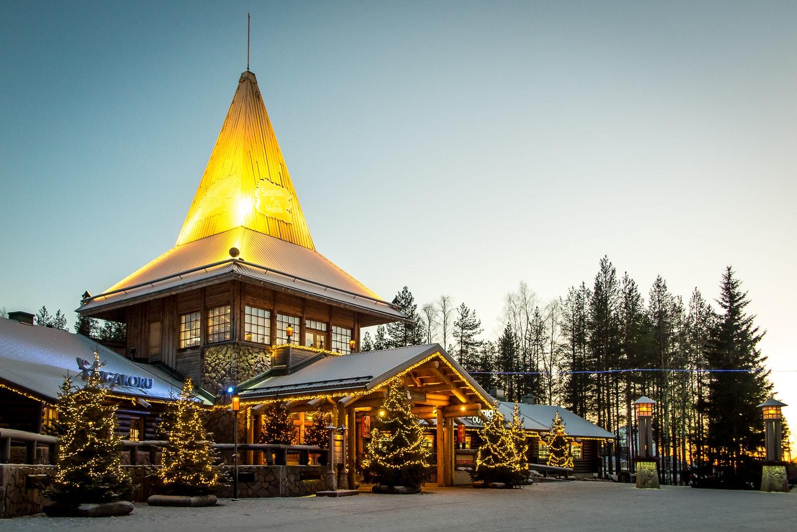 Das Haus des Weihnachtsmanns in Rovaniemi