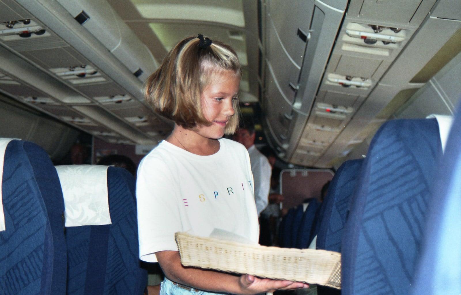 Bereits als 10-jährige vom Flugbegleiter-Virus gepackt: Kim Werlen (Foto:ZVG/Kim Werlen)