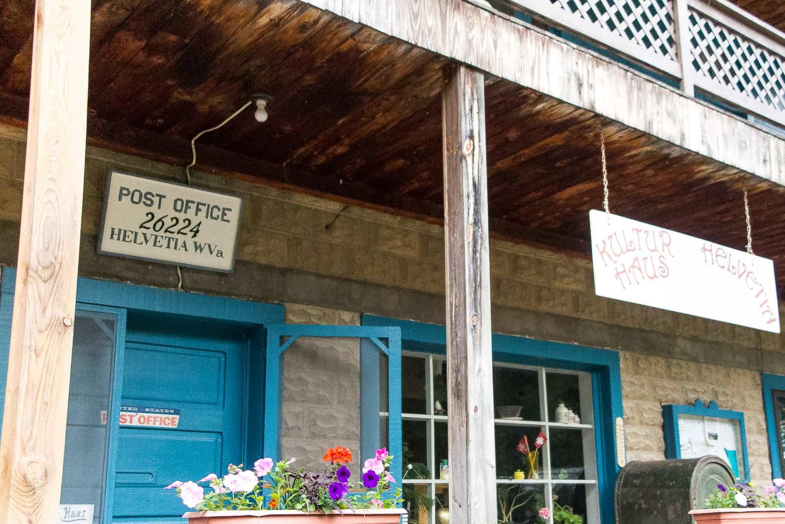 Helvetia, WV: Post und Kulturhaus in einem