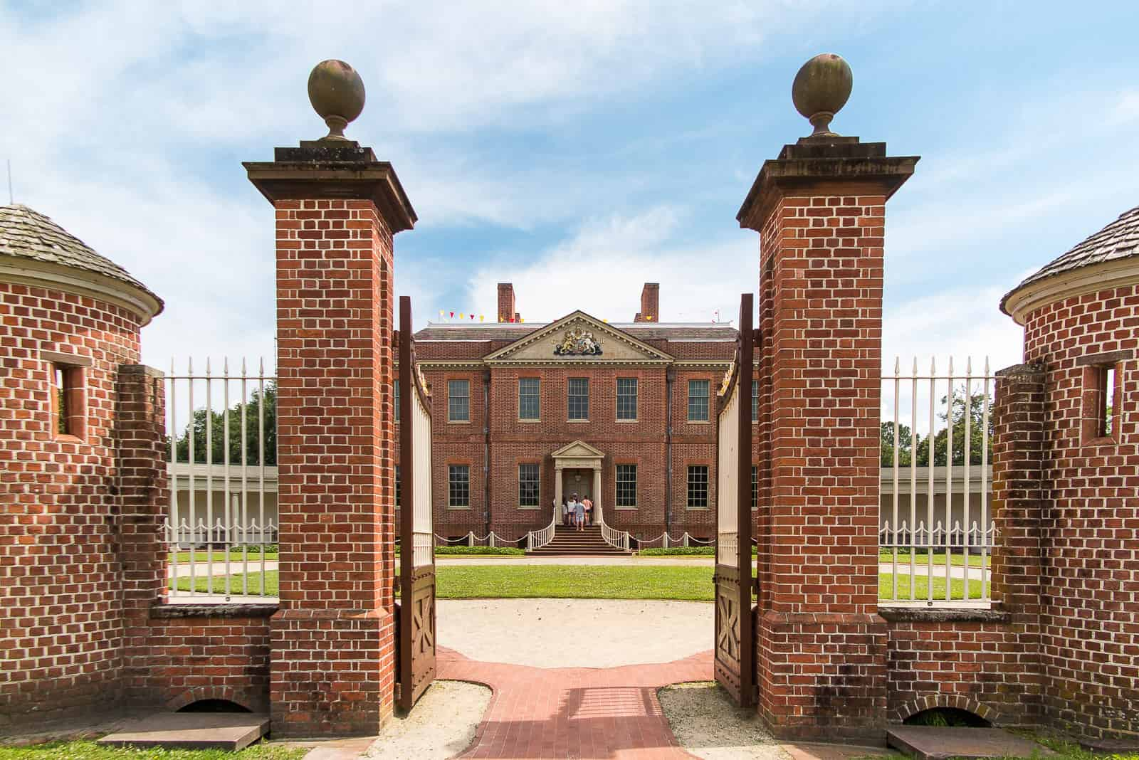 Blick auf Tryon Palace in New Bern