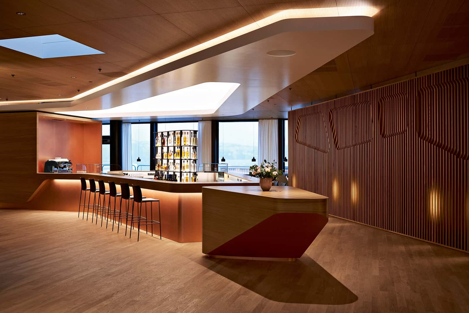Barista Bar in der Swiss First Lounge.