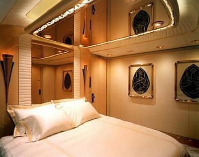 'Schlafzimmer' des Sultan von Brunei in seinem Privatjet