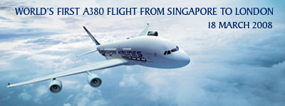 Singapore Airlines: Worlds First A380 Flight from Singapore to London